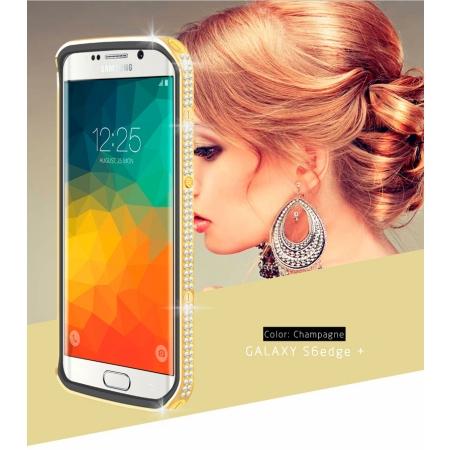 Чехол со стразами LOVE MEI Star Line Case для Galaxy S6 Edge+ - золотистый
