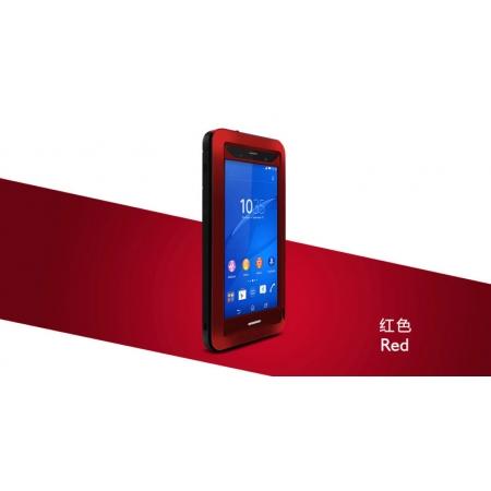 Противоударный, влагозащищенный чехол LOVE MEI POWERFUL для Sony Xperia Z3 / D6603 - красный