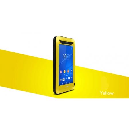 Противоударный, влагозащищенный чехол LOVE MEI POWERFUL для Sony Xperia Z3 / D6603 - желтый