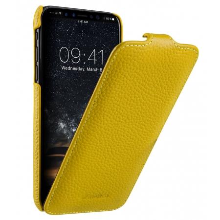Кожаный чехол флип Melkco для Apple iPhone 11 - Jacka Type - желтый