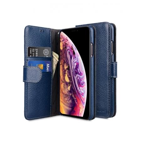 Кожаный чехол книжка Melkco для iPhone 11 - Wallet Book Type - темно-синий