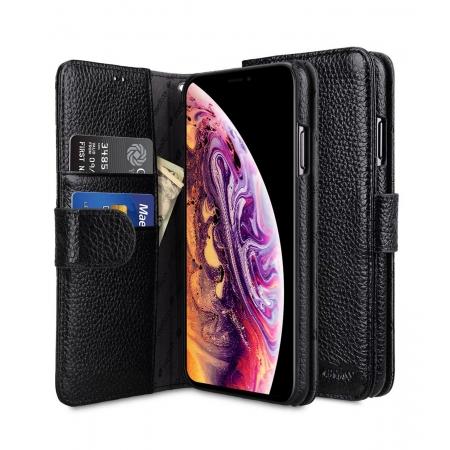 """Кожаный чехол книжка Melkco для iPhone 12/12 Pro (6.1"""") - Wallet Book Type - черный"""
