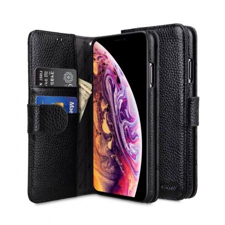 Кожаный чехол книжка Melkco для Apple iPhone 11 Pro Max - Wallet Book Type - черный