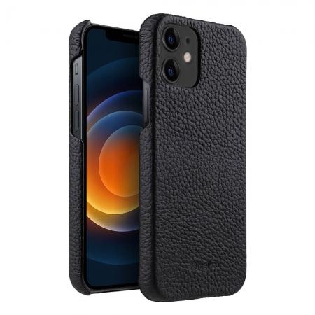 "Кожаный чехол накладка Melkco для Apple iPhone 12 mini (5.4"") - Snap Cover, черный"