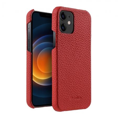 """Кожаный чехол накладка Melkco для Apple iPhone 12 / 12 Pro (6.1"""") - Snap Cover - красный"""