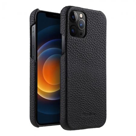 """Кожаный чехол накладка Melkco для Apple iPhone 12 Pro Max (6.7"""") - Snap Cover - черный"""