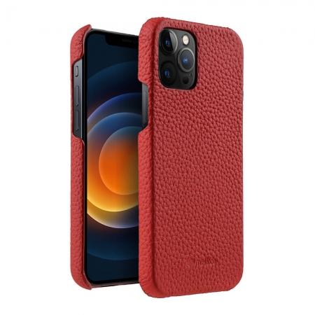 """Кожаный чехол накладка Melkco для Apple iPhone 12 Pro Max (6.7"""") - Snap Cover - красный"""