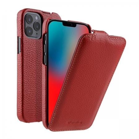 """Кожаный чехол флип Melkco для Apple iPhone 12/12 Pro (6.1"""") - Jacka Type - красный"""
