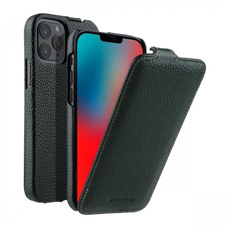 """Кожаный чехол флип Melkco для Apple iPhone 12 Pro Max (6.7"""") - Jacka Type, темно-зеленый"""