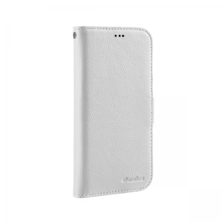 """Кожаный чехол книжка Melkco для iPhone 12/12 Pro (6.1"""") - Wallet Book Type - белый"""