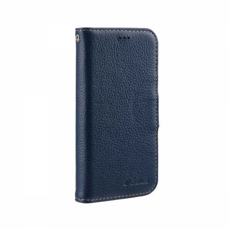 "Кожаный чехол книжка Melkco для Apple iPhone 12 Pro Max (6.7"") - Wallet Book Type, темно-синий"
