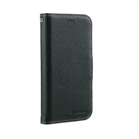 """Кожаный чехол книжка Melkco для Apple iPhone 12 Pro Max (6.7"""") - Wallet Book Type, темно-зеленый"""