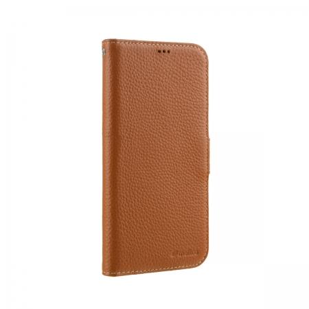 """Кожаный чехол книжка Melkco для Apple iPhone 12 mini (5.4"""") - Wallet Book Type, оранжевый"""