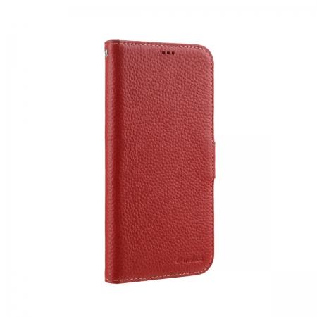 """Кожаный чехол книжка Melkco для Apple iPhone 12 mini (5.4"""") - Wallet Book Type, красный"""