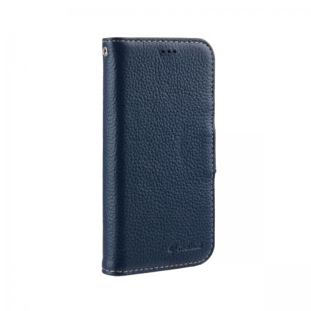 "Кожаный чехол книжка Melkco для Apple iPhone 12 mini (5.4"") - Wallet Book Type, темно-синий"