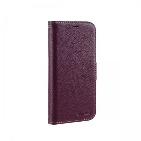 """Кожаный чехол книжка Melkco для Apple iPhone 12 mini (5.4"""") - Wallet Book Type, сиреневый"""