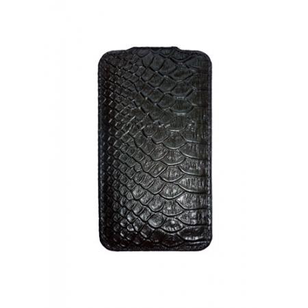 Кожаный чехол Melkco для Apple iPhone 3GS/3G - Jacka Type - змеиная кожа - черный