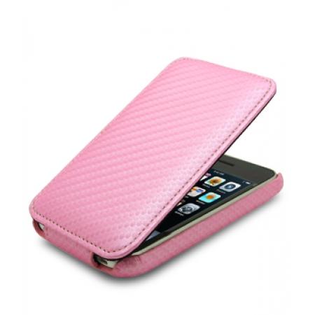 Чехол Melkco для Apple iPhone 3GS/3G - Jacka Type - розовый карбон