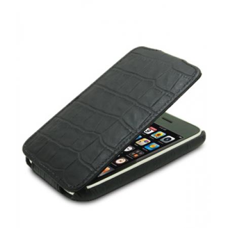 Кожаный чехол Melkco для Apple iPhone 3GS/3G - Jacka Type - крокодиловая кожа - черный