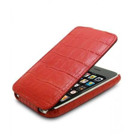Кожаный чехол Melkco для Apple iPhone 3GS/3G - Jacka Type - крокодиловая кожа - красный