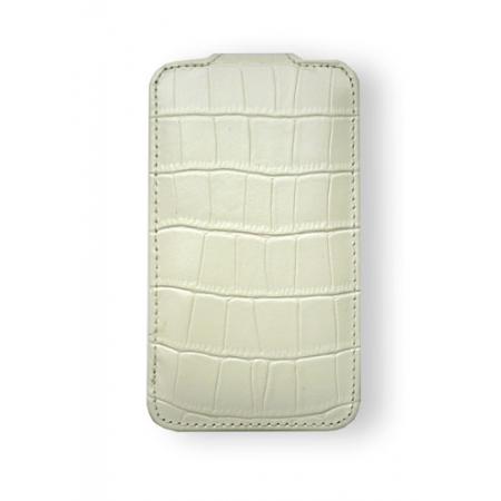 Кожаный чехол Melkco для Apple iPhone 3GS/3G - Jacka Type - крокодиловая кожа - белый