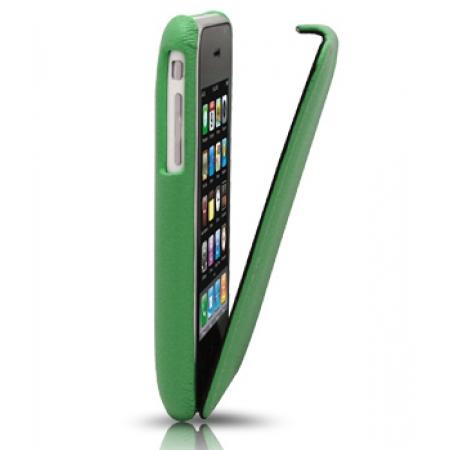 Кожаный чехол Melkco для Apple iPhone 3GS/3G - Jacka Type - зеленый