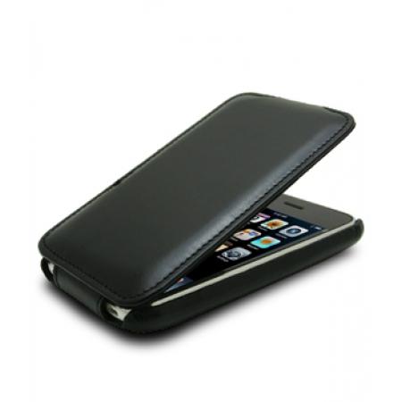 Кожаный чехол Melkco для Apple iPhone 3GS/3G - Jacka Type - (Vintage Black) - глянцевый черный