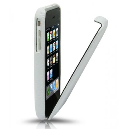 Кожаный чехол Melkco для Apple iPhone 3GS/3G - Jacka Type - белый