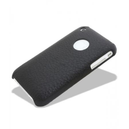 Кожаный чехол накладка Melkco для Apple iPhone 3GS/3G - Snap Cover - черный