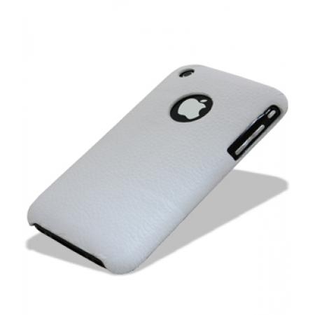 Кожаный чехол накладка Melkco для Apple iPhone 3GS/3G - Snap Cover - белый