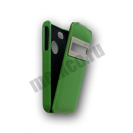 Кожаный чехол Melkco для Apple iPhone 4/4S - Jacka ID Type - зелёный