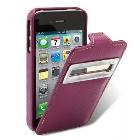 Кожаный чехол Melkco для Apple iPhone 4/4S - Jacka ID Type - сиреневый