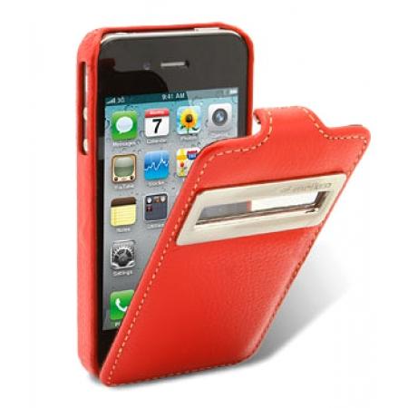 Кожаный чехол Melkco для Apple iPhone 4/4S - Jacka ID Type - красный