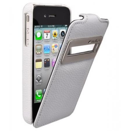 Кожаный чехол Melkco для Apple iPhone 4/4S - Jacka ID Type - белый