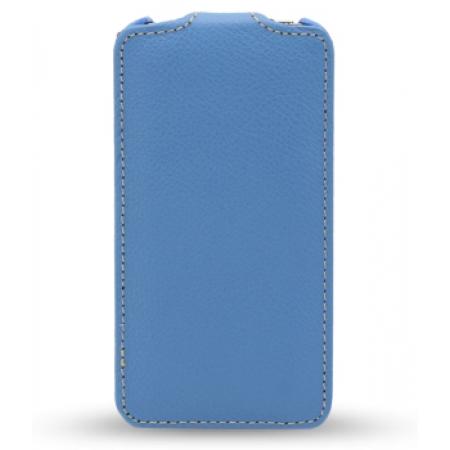 Кожаный чехол Melkco для Apple iPhone 5C - Jacka Type - голубой