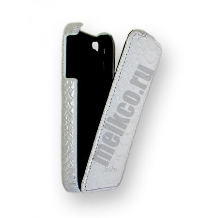 Кожаный чехол Melkco для Apple iPhone 4/4S - Jacka Type - змеиная кожа - белый