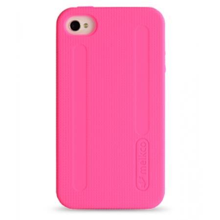 Двухслойный противоударный чехол Melkco Kubalt Double Layer Case для Apple iPhone 4/4S - розовый