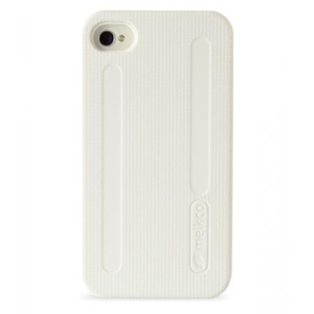 Двухслойный противоударный чехол Melkco Kubalt Double Layer Case для Apple iPhone 4/4S - белый