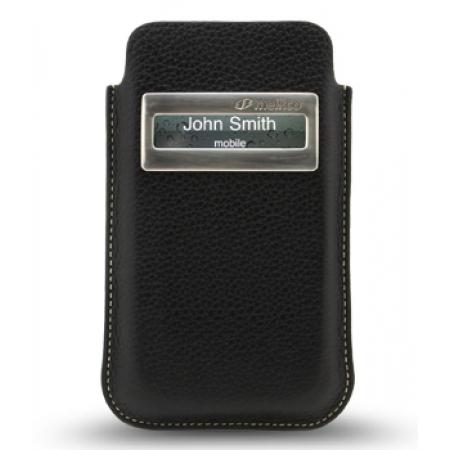 Кожаный чехол Melkco для Apple iPhone 4/4S - iCaller Pouch Type - черный