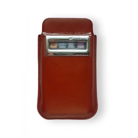 Кожаный чехол Melkco для Apple iPhone 4/4S - iCaller Pouch Type - коричневый