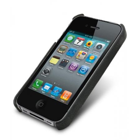 Кожаный чехол - задняя крышка Melkco для Apple iPhone 4/4S - черный