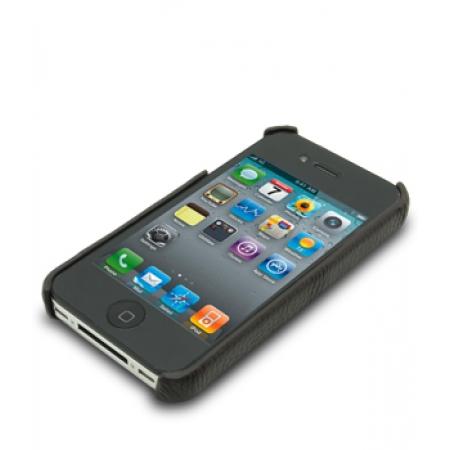Кожаный чехол - задняя крышка Melkco для Apple iPhone 4/4S - коричневый