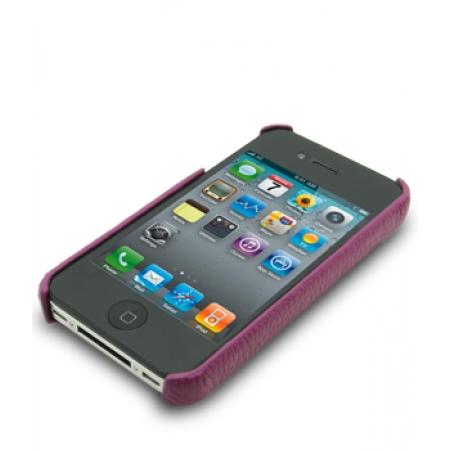 Кожаный чехол - задняя крышка Melkco для Apple iPhone 4/4S - сиреневый
