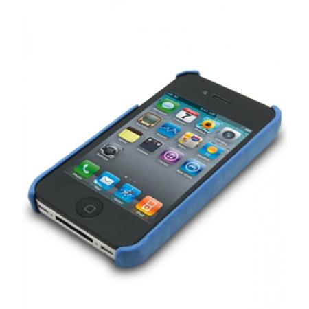Кожаный чехол - задняя крышка Melkco для Apple iPhone 4/4S - синий