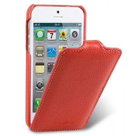 Кожаный чехол Melkco для Apple iPhone 5/5S / iPhone SE - Jacka Type - красный