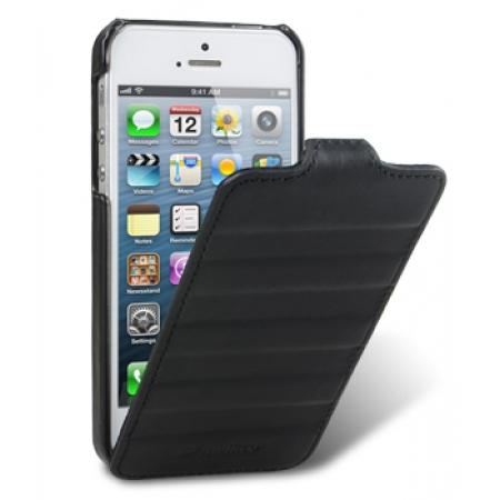 Кожаный чехол Melkco для Apple iPhone 5/5S / iPhone SE - Craft Limited Edition - Prime Horizon - чёрный