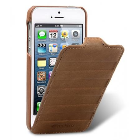 Кожаный чехол Melkco для Apple iPhone 5/5S / iPhone SE - Craft Limited Edition - Prime Horizon - коричневый