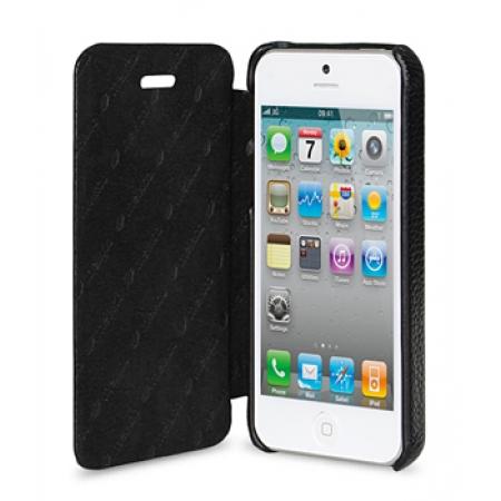 Кожаный чехол Melkco для Apple iPhone 5/5S / iPhone SE - Face Cover Book Type - черный