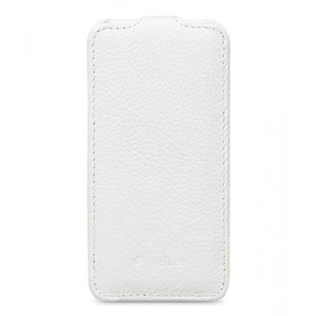 Кожаный чехол Melkco для Samsung Galaxy S5 Mini - Jacka Type - белый