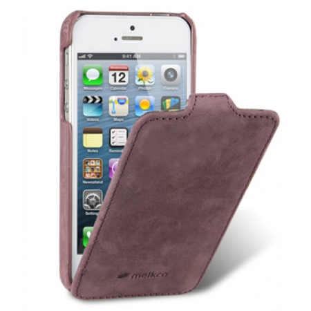 Кожаный чехол Melkco для Apple iPhone 5/5S / iPhone SE - Jacka Type (Classic Vintage Purple) - сиреневый